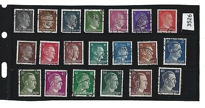 Adolph Hitler stamp set / 20 different Third Reich stamps / Nazi Germany / WWII