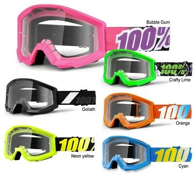 100% Crossbrille Strata Kinder MX Brille Kinderbrille Motocross Enduro