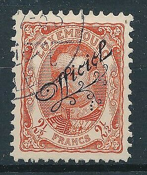 [36525] Luxembourg 1908/19 Official Good stamp Very Fine used Value $115
