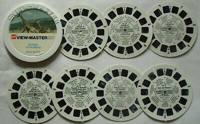 7 View-Master 3D Bildscheiben - Animals Of The World - Mini Container