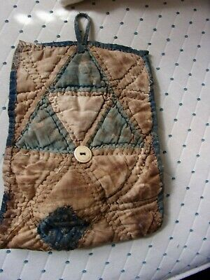 Early Antique Textile housewife roll up..AAFA