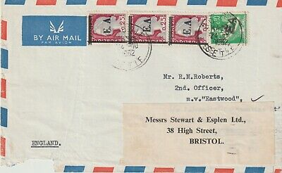 Stamps 1962 French Envelope To Bristol Ovpt E.a. Postal History