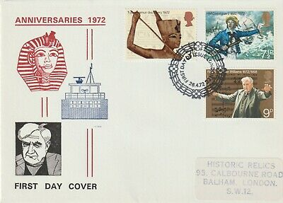 Stamps 1972 Anniversaries London Historic Relics First Day Cover Postal History