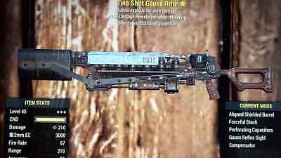 Fallout 76 (XBOX ONE) Two Shot Explosive Gauss Rifle