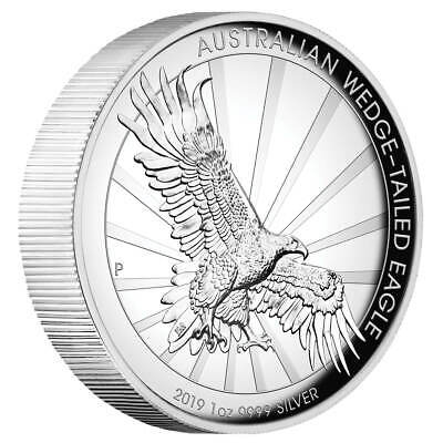 1 Oz Silber Australian Wedge Tailed Eagle 2019 High Relief 1 AUD Proof