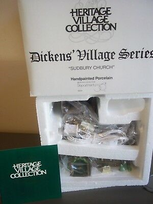 Department 56 Dept 56 Heritage Dickens Village Series Sudbury Church #58322 **