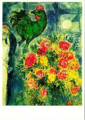 The Bouquet by Marc Chagall Art Postcard