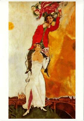 Double Portrait by Marc Chagall Art Postcard