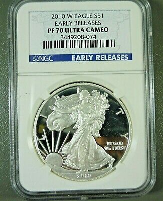 2010 W Proof American Silver Eagle First Strike NGC PF70 ULTRA CAMEO