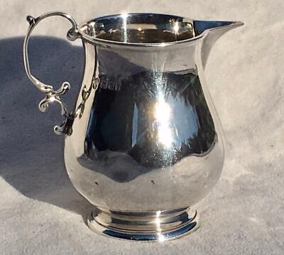 Antique Solid Sterling Silver Milk Or Cream Jug By Charles Boyton In 1918