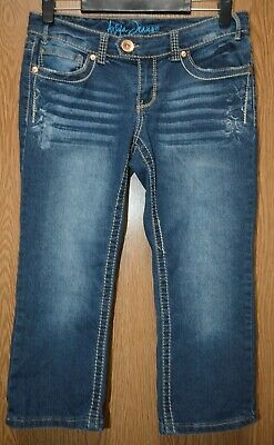 Womens Prefaded Denim Ariya Jeans Capri Pants Size 7 8 very good