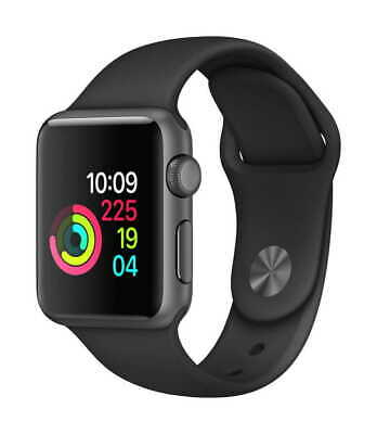 Apple Watch Series 1 42mm Space Gray Aluminum MP032LL/A With Black Band