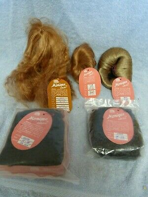 Lot of Five Monique Doll Wigs NEW