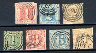 German States Thurn & Taxis,Michel 38-44,used,CV $260