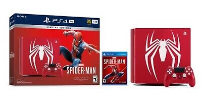 PS4 Pro Marvel's Spider Man Limited Edition Console 1TB Sony PlayStation 4 new