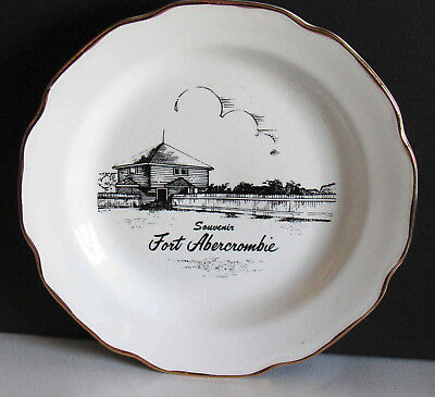 1a9e67305f3 Vintage Fort Abercrombie ND North Dakota Souvenir Plate 7