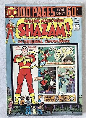 Shazam #13 DC 100 Page Giant Original Captain Marvel 1974 Bronze Comic F+
