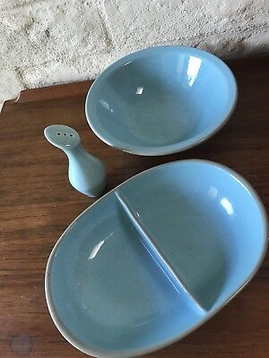 Vintage Harker Stone China Trio-60s