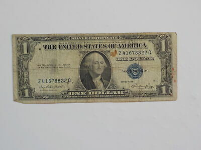 Silver Certificate 1935 1 Dollar Bill Paper Money Note United States American