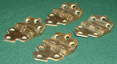 "Vintage Brass Offset Hinges Set of Four Numbered 714 & 7/16 (2""x3"")VG Cond."