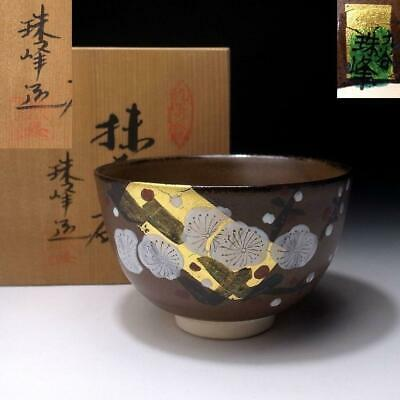 PF4: Japanese Hand-painted tea bowl, Kutani Ware by 1st class potter, Jyuho Doyo