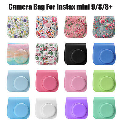 PU Leather Instant Camera Case Cover Shoulder Bag For Instax Mini 8/9/8+