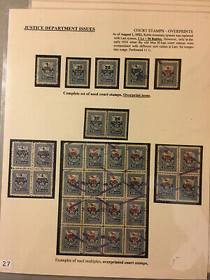 Latvia First Independence Justice Department Court Stamps 1922 Complete Set Plus