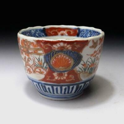PG9: Antique Japanese Hand-painted OLD IMARI SOBA Cup, 19C