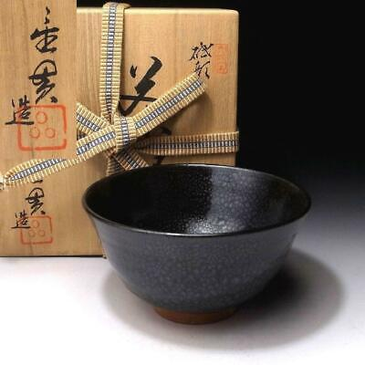 PG7: Japanese Tea Bowl, Tobe ware by Great Human Cultural Treasure, Seiki Nomoto