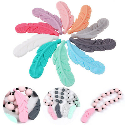 1 Pc Feather Silicone Teether Baby Teething Toys Pendant Pacifier Chewing Toy