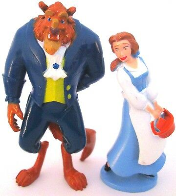 BEAUTY AND THE BEAST Figure Set DISNEY PRINCESS Movie BELLE PVC TOY Cake Topper!