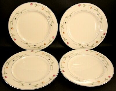* Set of 4 * Gorham Town & Country Country Flowers Salad Plates NEAR MINT