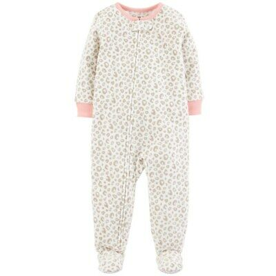 a0db9615e NWT ☀FOOTED FLEECE☀ CARTERS Girls Pajamas New CAT 24m -  9.99 ...