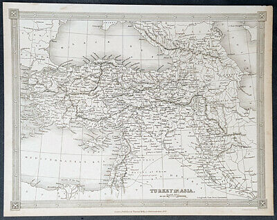 1840 Alexander Findlay Antique Map of The Ottoman Empire, Turkey in Asia