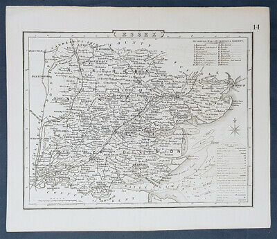 1830 Archibald Fullarton Antique Map of Essex, England