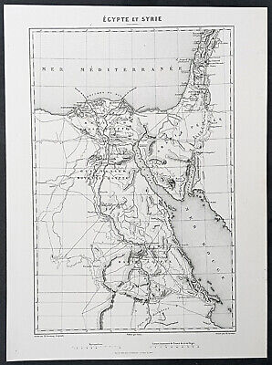 1835 M A Thiers Antique Military Map of Egypt & Sinai - Napoleons Campaign