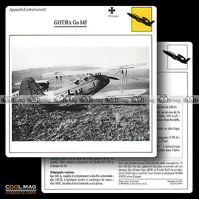 #068.07 GOTHA GO 145 - Fiche Avion Airplane Card