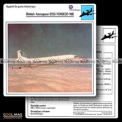 #007.17 BRITISH AEROSPACE (HS) NIMROD MR - Fiche Avion Airplane Card