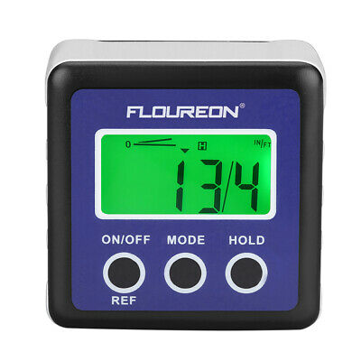 Floureon Digital Bevel Box Gauge LCD Backlit Display Angle Finder Protractor