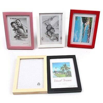 """5""""/6""""/7""""/8"""" Wooden Picture Photo Wall Frame Room Home Office Decoration FG"""