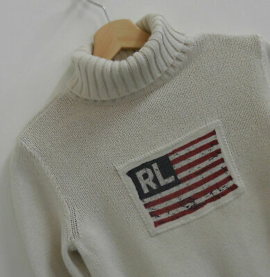 Womens Vintage Polo Jeans Co By Ralph Lauren Roll Neck Jumper Size Medium : A236