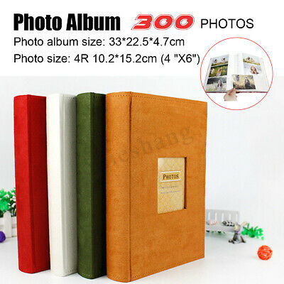 300 Pockets Slip In Photo Album With Memo Area Family Friends Wedding Gifts