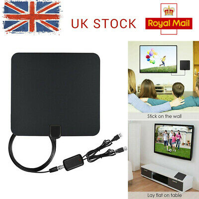 1080p 4M Coax Cable HD Digital TV Antenna with Signal Booster 100+ FREE HD TV
