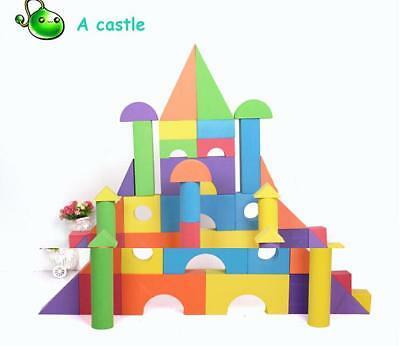 Building Construction Blocks Set Colourful Foam Kids Baby Toddler Play Toys DP