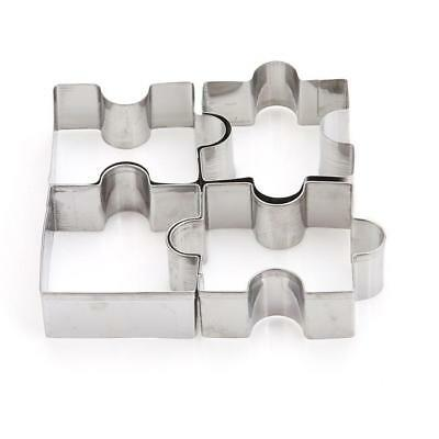 4pcs Stainless Steel Biscuit Cookie Cake Pastry Fondant Mold Mould Cutter DP