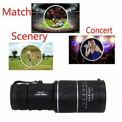 Telescope Day & Night Vision 30x52 HD Optical Monocular Hunting Camping Hiking