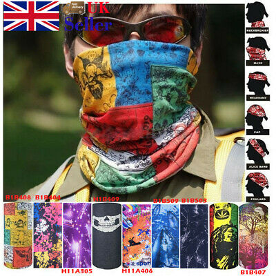 Multi Use Biker Balaclava Face Cycling Neck Tube Scarf Snood Fishing Warmer UK