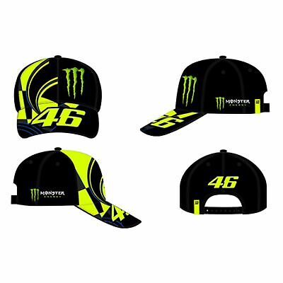 VR46 Valentino Rossi 46 Monster Adjustable Cap - Replica Black