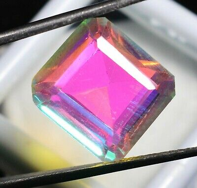 12.00 Ct Natural Rainbow Color Mystic Quarz Zertifizierter Edelstein ZERTIFIZIER