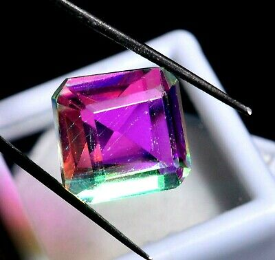 10.70 Ct Natural Rainbow Color Mystic Quarz Zertifizierter Edelstein ZERTIFIZIER